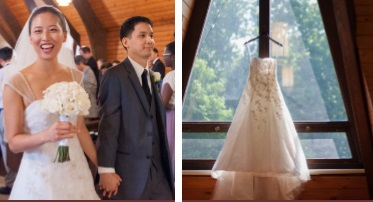 Eunice Park (Shim) is a 3rd year medical student and was married on June 21, 2016 at Clarksville, Maryland.  She found her beautiful gown at the Bridal Boutique at the Little White House.